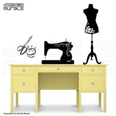 Wall decals SEWING ROOM decor  Sewing machine by decalsmurals, $28.99