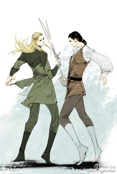 Legolas and Will Turner. I would die if I saw them in the same movie<<<Especially since they're played by the same actorXD