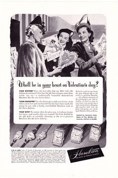 1948 ad Hamilton Watch for Valentine's Day by ArcaniumAntiques