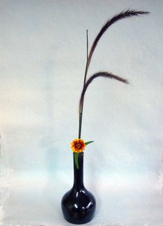 Simple ikebana in autumn color