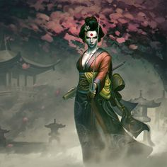 A superb samurai, she uses her deadly sword, The Soultaker, to fight evil around the world. The mystic sword contains the soul of every person killed by it and Katana can communicate with those souls. She is currently a member of the Suicide Squad. Dc Comics Characters, Dc Comics Art, Marvel Dc Comics, Fantasy Characters, Character Drawing, Comic Character, Character Reference, Character Ideas, Comic Books Art
