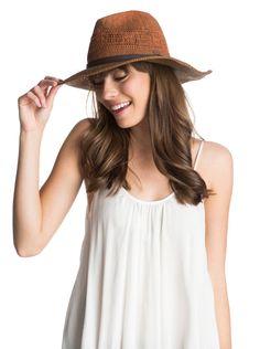 How spring ready does she look in our Roxy Adventure Straw Hat in walnut!  Raffia 14c7ba44f69f