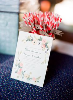 Love the striped straws with flags--would be awesome for a custom drink at the wedding reception