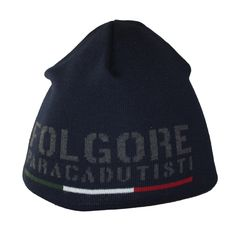 "#Hat - Blue. Winter classic style hat very comfortable to wear. ""Folgore paracadutisti"" jaquard logo."