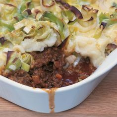 Htc shepherds pie with cheese crusted leeks