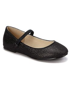 Another great find on #zulily! Black Glitter Ridley Flat #zulilyfinds
