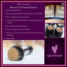 What are the benefits of a pressed mineral powder?
