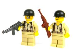 custom US WW2 Marines soldiers made with real LEGO(R) Marine Two #LEGO