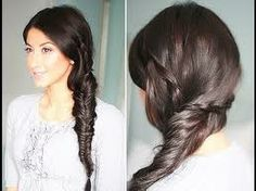 Side fishtail with 3 strand braids - luxyhair