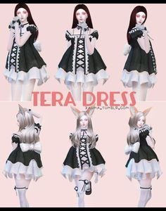 """zauma: """" TS4 - TERA Dress. •  New Mesh [converted by me, original from TERA] • Avaliable in 6 colors. • Teen to elder, females. • CAS preview. •  DOWNLOAD [mediafire] Enjoy! """""""