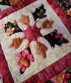 Awesome free motion quilting