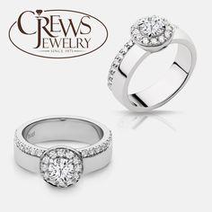 Naledi halo engagement ring