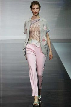 #MFW - Runway - Emporio #Armani Spring 2014 Ready-to-Wear Collection