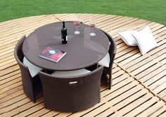 Rattan Furniture In Stylish Outdoor Dining Area Wicker Set Small Modern