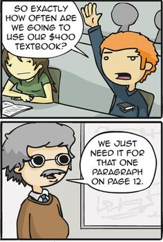 College textbook truth.