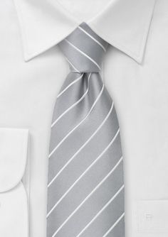 Grey and white striped Groomsmen ties !