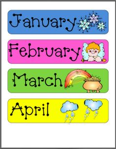 This is a photo of Insane Printable Months of the Year for Preschool