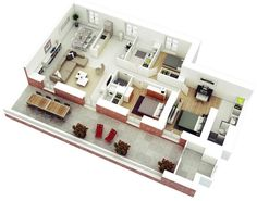 25-more-3-bedroom-3d-floor-plans (17)