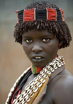 Hamar tribe girl Ethiopia   Flickr - Photo Sharing!