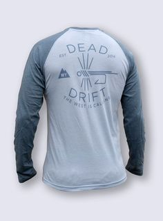 Fly Fishing t-shirt, Long Sleeved FISH HOOK by Dead Drift Fly Fishing Apparel an up and coming, lifestyle fly fishing apparel brand. We are fishermen,