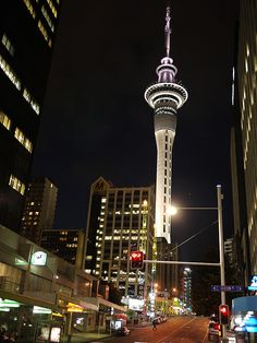 New Zealand, Auckland, Sky Tower. Travel Around The World, Around The Worlds, Places To Travel, Places To Go, Islas Cook, Auckland New Zealand, Kiwiana, New Zealand Travel, Tonga