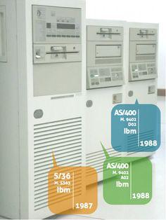 S/36, Ibm, 1987. AS/400 M. 9402 A02, Ibm, 1988. AS/400 M. 9402 D02, 1991.