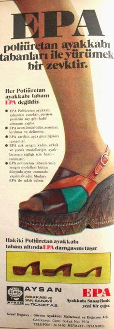 OĞUZ TOPOĞLU : epa ayakkabı 1975 nostaljik eski reklamlar