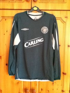 Celtic Football Club Long Sleeve Away Jersey 2004 - 2005 Small Adult Umbro Soccer  Jerseys 0a1b56ee9
