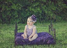 Purple Glam Baby Headband-Baby Headbands-Baby Girl Headbands-Toddler Headband-Childrens Headband-Photo Prop