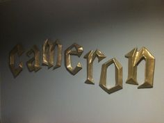 @Kimmie Marlow Harry Potter 3D Wall Letters. $10.00, via Etsy.