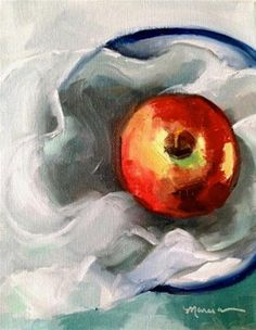 """Sexy Apple"" - Original Fine Art for Sale - ©Marcia Hodges"