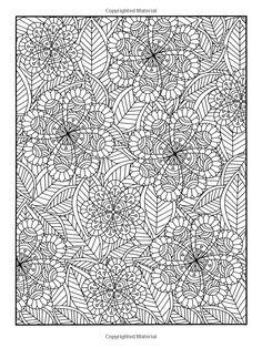 Coloriage de fleurs difficile. A vos crayons !