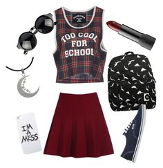 """""""Too cool for school"""" by explorer-14410940348 on Polyvore featuring Forever 21, Filles à papa, Vans, Carolina Glamour Collection and LAUREN MOSHI"""