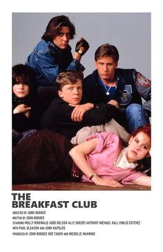 the breakfast club Iconic Movie Posters, Minimal Movie Posters, Minimal Poster, Iconic Movies, Film Posters, Good Movies, Music Posters, Film Poster Design, Poster Designs