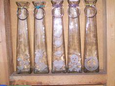 11 Glass Tower Incense Stick Burner Hand Etched