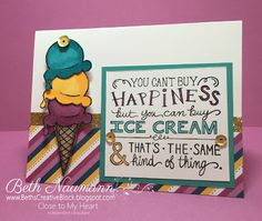 Beth's Creative Block!: June Stamp of the Month: Ice Cream Dream