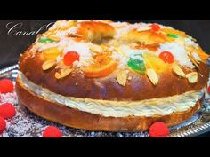 ROSCON DE REYES RECETA AUTENTICA FÁCIL Y RICO - YouTube Pan Dulce, Types Of Bread, Food Cakes, Bagel, Cake Pops, Doughnut, Mexican Food Recipes, Christmas Cookies, Cake Recipes