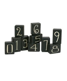 Collins Black Number Block Set