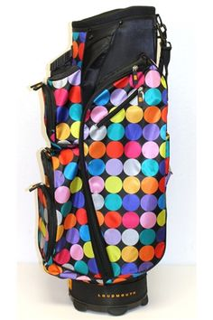 Cart Bag by Molhimawk with Loudmouth Golf Print - Disco Balls. Buy now @ ReadyGolf.com