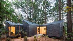 Umweltfreundliche Ferienhäuser im Wald