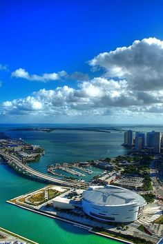 Downtown Miami.  American Airlines Arena, home of the Miami Heat