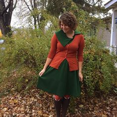 My coworker told me this outfit made me look like an autumnal tree. I'll take it as a compliment! 😊  #fallstyle