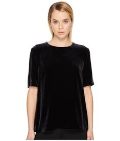 Vince Velvet T-Shirt Women's T Shirt Coastal Velvet T Shirt, Velvet Tees, Night Out Tops, Vintage Grunge, Luxury Fashion, Fashion Trends, Crew Neck, Short Sleeves, Tunic Tops