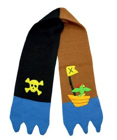 158985c8497 Black & Brown Pirate Scarf Happy Kids, Knit Beanie, Black And Brown, Knitted