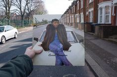 Carroll Thompson, Hopelessly in Love (Carib Gems, 1981), rephotographed on Milton Avenue, London NW10, 34 years later.