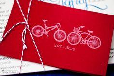 Convite de casamento com tema bicicleta #papelaria
