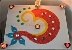 Awesome Wedding Entrance Decorations At Home 5 Small Rangoli Design, Colorful Rangoli Designs, Rangoli Designs Diwali, Rangoli Designs Images, Diwali Rangoli, Beautiful Rangoli Designs, Indian Rangoli, Diwali Decorations At Home, Festival Decorations