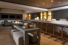 Home Interior, Basement Ideas: Changing Basement Become A Simple Bar: Luxury Basement Bar Ideas