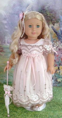 Hint of Pink Regency Gown for Caroline by MyGirlClothingCoHeir