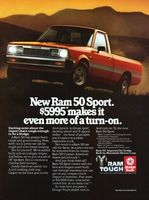 Dodge Ram 50 Sport 1985 Ad Picture